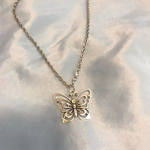 Chunky butterfly pendant chain